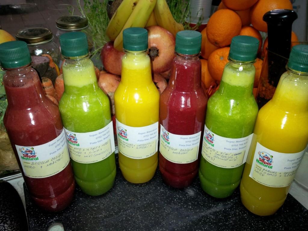 Detox cu sucuri naturale in Brasov